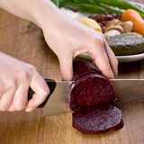 Sliced beetroot Royalty Free Stock Photo