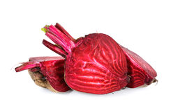 Sliced beetroot isolated on the white background Royalty Free Stock Image
