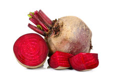 Sliced beetroot isolated on the white background Stock Images