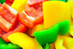 Sliced bell pepper Royalty Free Stock Image