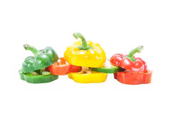Sliced Bell Pepper Royalty Free Stock Images