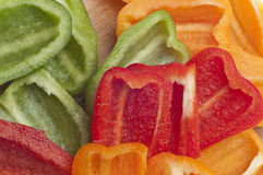 Sliced Bell Pepper Background Royalty Free Stock Photography