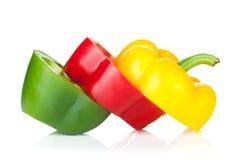 Sliced bell pepper Stock Photography