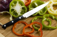 Sliced bell peppers Stock Photo