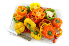 Sliced Bell peppers Stock Photography