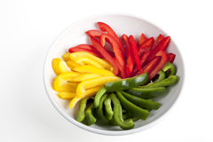 Sliced Bell Peppers in Bowl Royalty Free Stock Image