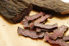Sliced Biltong Royalty Free Stock Photos