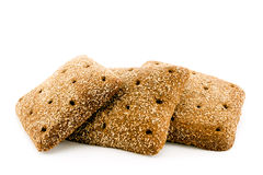 Sliced black bread isolated. Sliced black bread on white background, isolated Stock Photography
