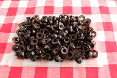 Sliced black olives Royalty Free Stock Images