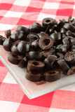 Sliced black olives Royalty Free Stock Photos