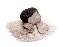 Sliced Black truffle stock photo