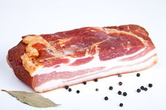Sliced block of bacon Stock Photo
