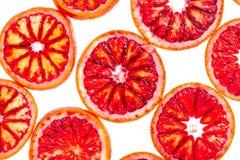 Sliced blood orange Royalty Free Stock Images