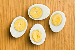 Sliced boiled egg Stock Photos