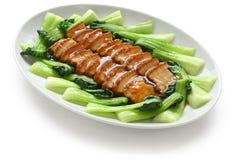 Sliced braised pork belly Stock Images
