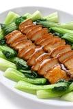 Sliced braised pork belly Stock Image