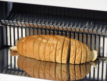 Sliced bread. From machine Stock Photos