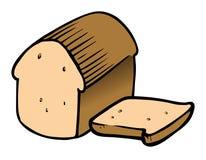 Sliced bread. Cartoon vector illustration of sliced bread royalty free illustration