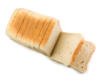 Sliced bread. Isolated on white Royalty Free Stock Images