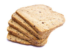Sliced bread. Sliced whole grain bread isolated on a white background Stock Photo