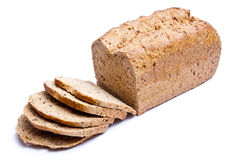Sliced bread. Sliced healthy bread isolated on a white background Royalty Free Stock Images
