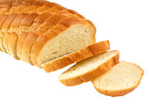 Sliced bread. Sliced loaf of bread isolated on white royalty free stock photo