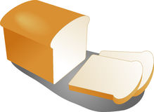 Sliced bread. Sliced loaf of white bread illustration clipart Vector illustration available for download. Click here for more vectors royalty free illustration