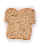 Sliced bread. A slice of whole white wheat bread Stock Photo