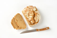 Sliced Bread And Knife Royalty Free Stock Photography