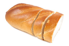Sliced bread baguette Royalty Free Stock Images