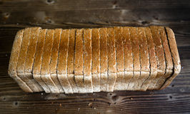 Sliced bread. Bakery Bread Concept and Decoration royalty free stock photo