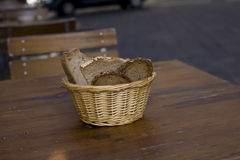 Sliced bread in a basket Royalty Free Stock Photography