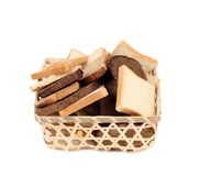 Sliced bread in a basket. Stock Images