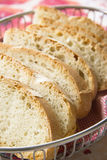 Sliced bread in a basket Royalty Free Stock Photo