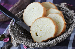 Sliced Bread in Basket Royalty Free Stock Photo