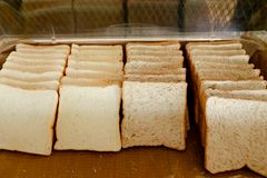 Sliced bread in a box. stock photography