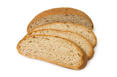 Sliced bread with bran Stock Images