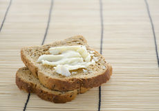 Sliced bread with brie cheese Stock Photography
