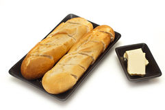 Sliced bread and butter Stock Images