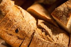 Sliced bread closeup Stock Photo
