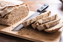 Sliced Bread On Cutting Board Royalty Free Stock Image