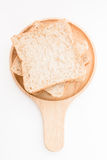 Sliced bread on cutting board. Royalty Free Stock Images