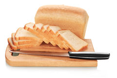 Sliced bread on desk Royalty Free Stock Image