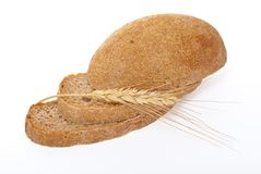 Sliced bread with ear Royalty Free Stock Images