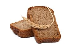 Sliced bread with ear Stock Photography