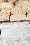 Bakery concept. Plenty of sliced bread background. Sliced bread gradient background. Bakery and grocery concept. Fresh, healthy whole grain sliced sorts of rye royalty free stock photography