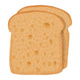 Sliced bread icon, cartoon style Royalty Free Stock Images