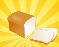 Sliced bread illustration Royalty Free Stock Photography