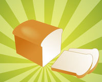 Sliced bread illustration Royalty Free Stock Images