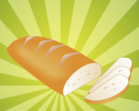 Sliced bread illustration Stock Images